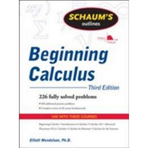 Schaum's Outline of Beginning Calculus (Häftad, 2009)