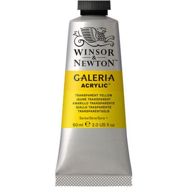 Winsor & Newton Galeria Acrylic Transparent Yellow 653 60ml