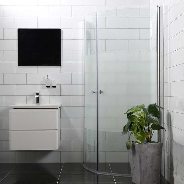 Bathlife Mångsidig Rund Brusehjørne 900x800mm