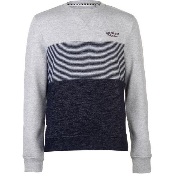SoulCal Crew Neck Sweatshirt Grey/Navy