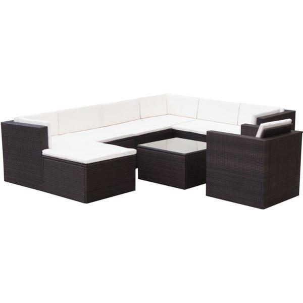 vidaXL 42674 Loungesæt, 1 borde inkl. 1 stole