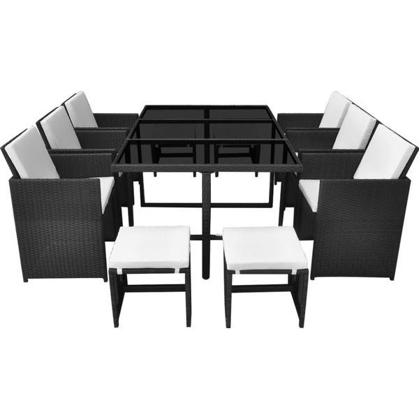 vidaXL 42523 Havemøbelsæt, 1 borde inkl. 6 stole