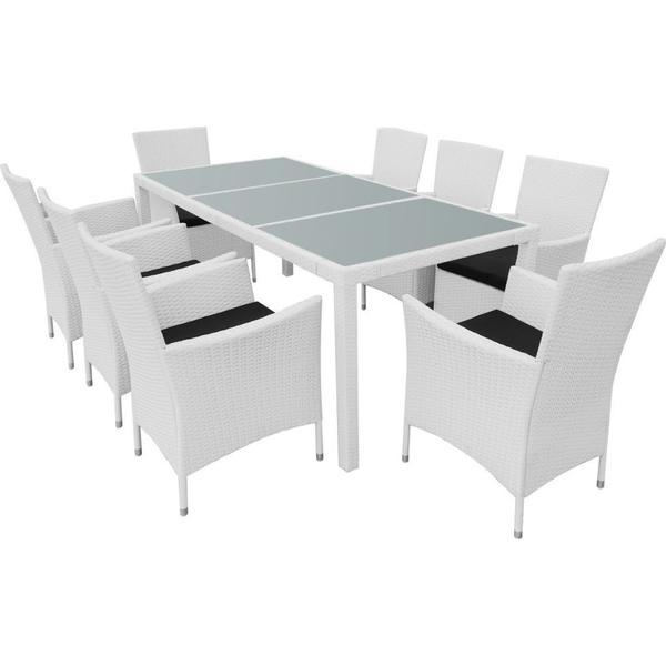 vidaXL 43113 Havemøbelsæt, 1 borde inkl. 8 stole