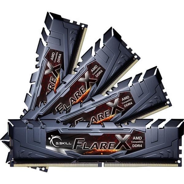 G.Skill Flare X Black DDR4 2400MHz 8x16GB for AMD (F4-2400C15Q2-128GFX)