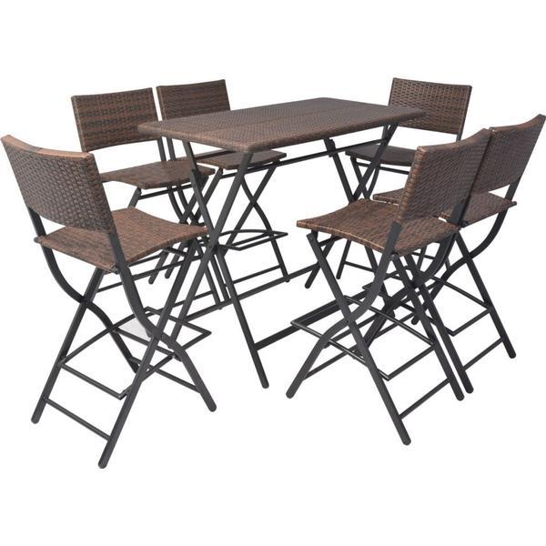 vidaXL 42877 Havemøbelsæt, 1 borde inkl. 6 stole