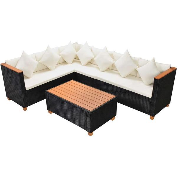 vidaXL 43000 Loungesæt, 1 borde inkl. 1 sofaer