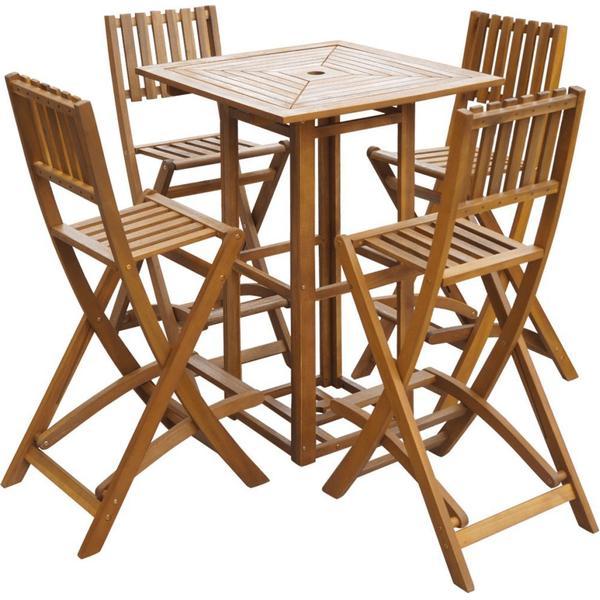 vidaXL 42657 Havemøbelsæt, 1 borde inkl. 4 stole