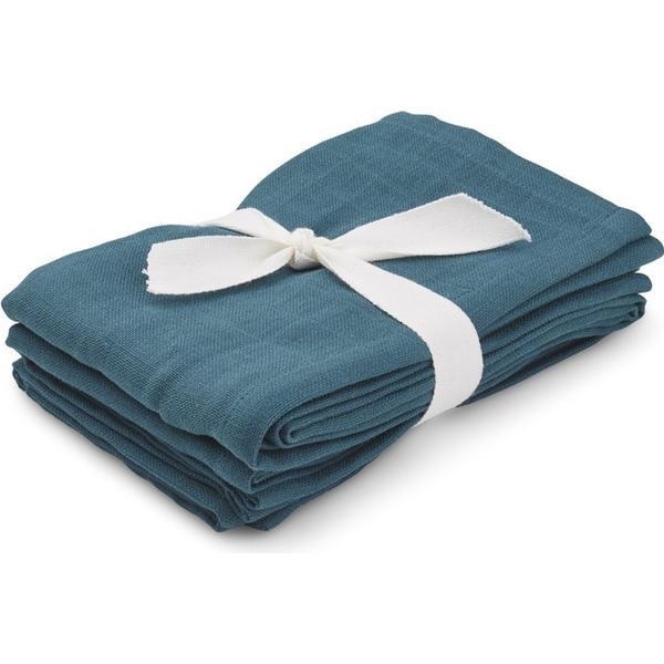 Liewood Hannah Muslin Cloth Solid Petrol 2-pack