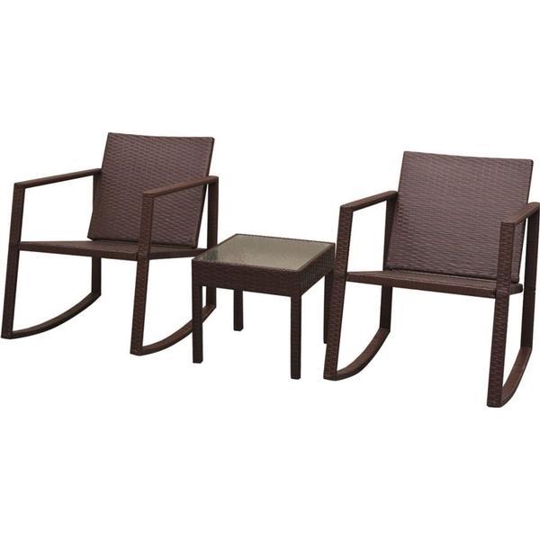 vidaXL 42861 Loungesæt, 1 borde inkl. 2 stole