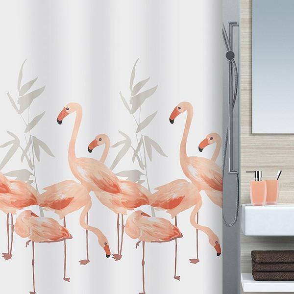 Spirella Badeforhæng Flamingo