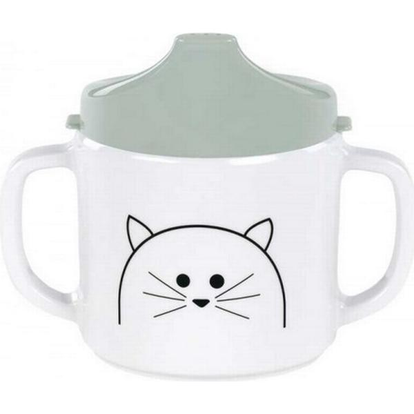 Lässig 2 Handle Sippy Cup Melamine Little Chums Cat