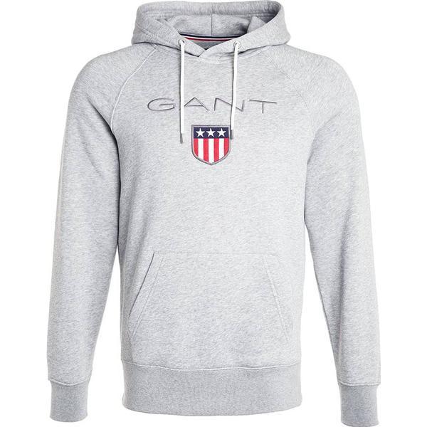Gant Shield Hoodie Grey Melange