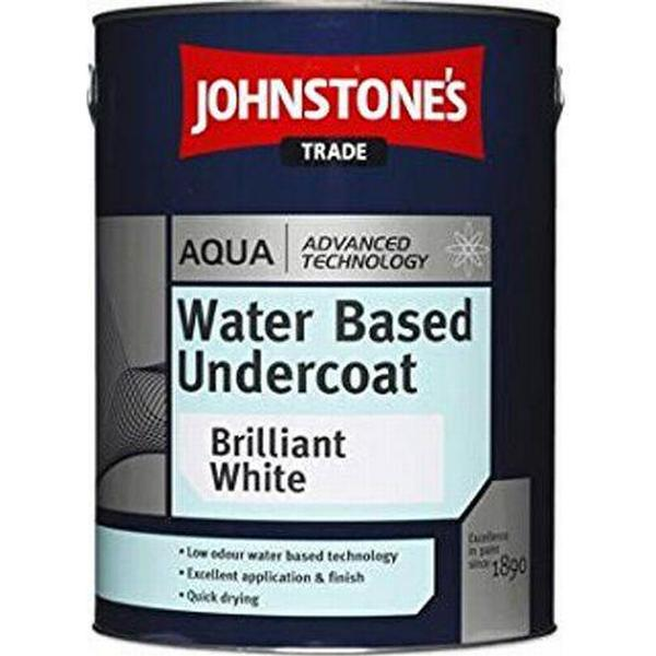 Johnstone's Trade Aqua Water Based Undercoat Wood Paint, Metal Paint White 1L