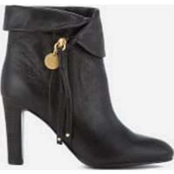 See By Chloé Women's Leather Fold Over Heeled - Ankle Boots - Nero - Heeled UK 6 - Black d39d66