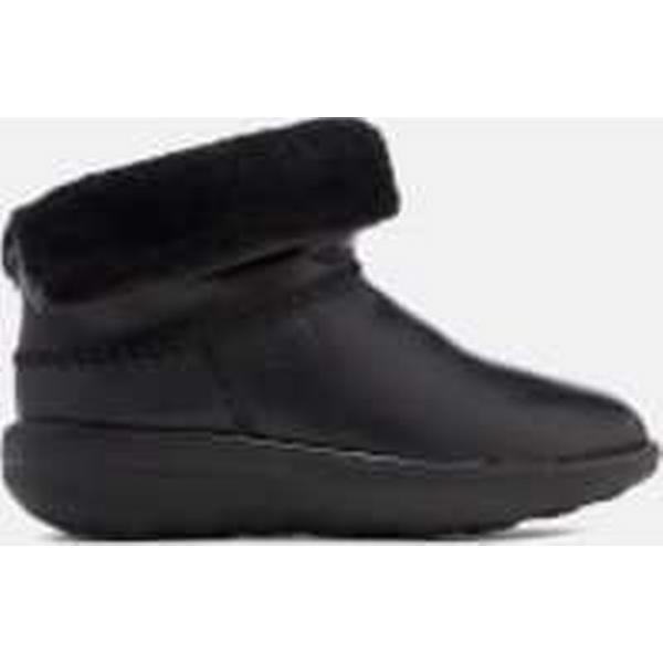 FitFlop Women's Mukluk Leather Shorty 2 Boots - Black Black - UK 3 - Black Black c21282