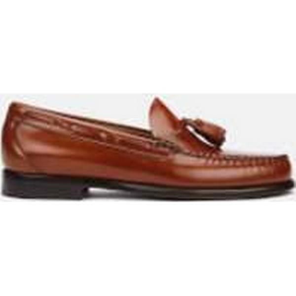 Bass Leather Weejuns Men's Larkin Tassle Leather Bass Loafers - Mid Brown - UK 8 - Brown 3e1576