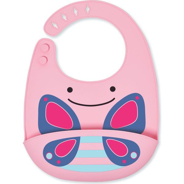 Skip Hop Zoo Fold & Go Silicone Bib Blossom Butterfly