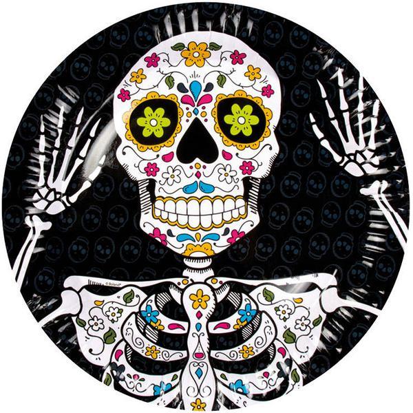 Boland Paper Platter Dia de Los Muertos