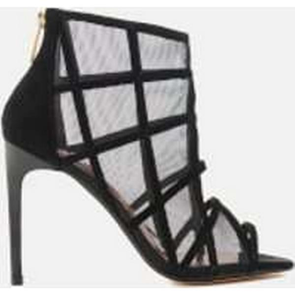 Ted Baker Women's Sandals Xstal Suede/Patent Caged Heeled Sandals Women's - Black - UK 3 - Black 4cd03e