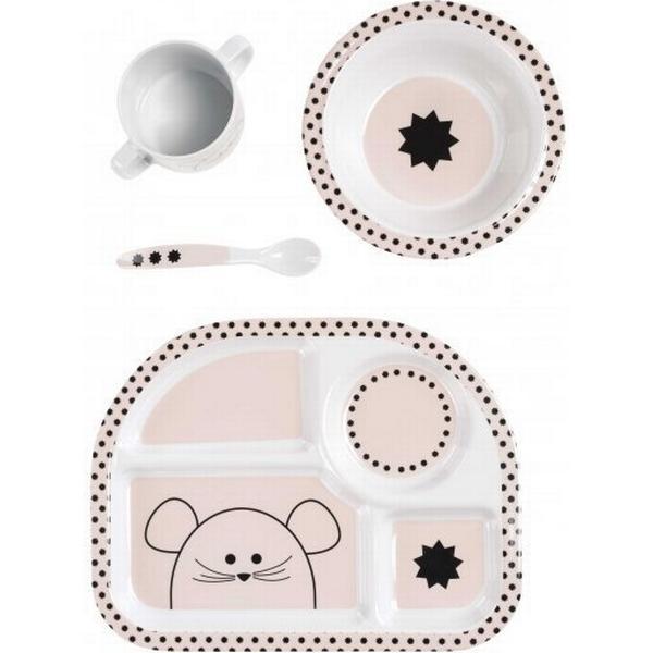 Lässig Spisesæt i Melamin Lille Chums Mouse