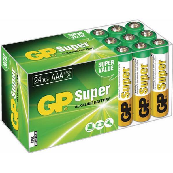 GP Batteries AAA Super Alkaline Compatible 24-pack