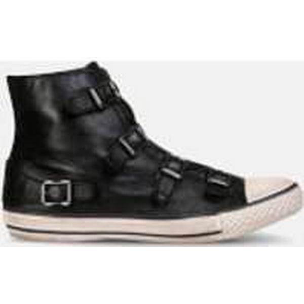 ash     & # ; s vierge cuir salut haut formateurs - noir c14c56