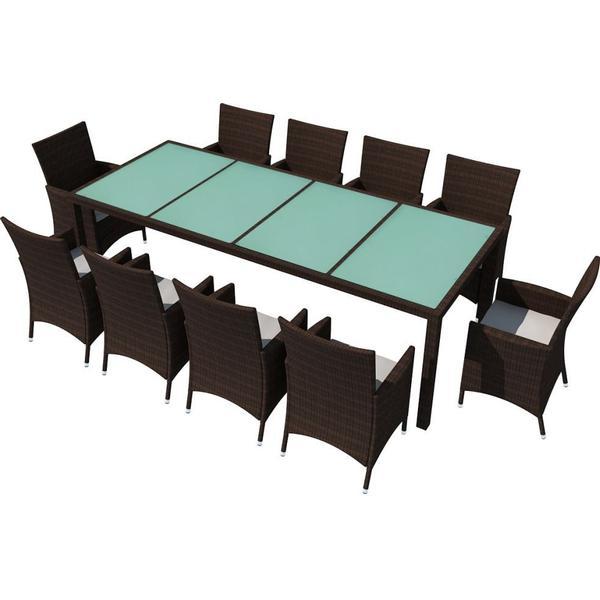 vidaXL 42569 Havemøbelsæt, 1 borde inkl. 10 stole