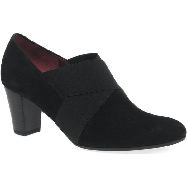 Gabor Function Womens High Cut Suede, Court Shoes Colour: Black Suede, Cut Size: 3a4b12