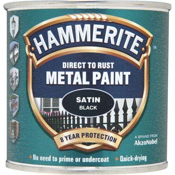 Hammerite Direct to Rust Metal Paint Black 0.25L