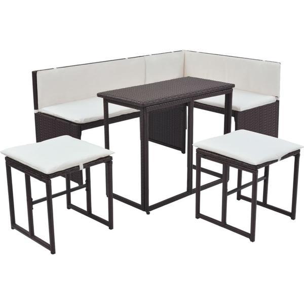 vidaXL 42879 Havesofa (modul/stk) Loungesæt, 1 borde inkl. 2 sofaer