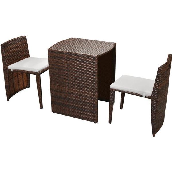 vidaXL 42881 Havemøbelsæt, 1 borde inkl. 2 stole