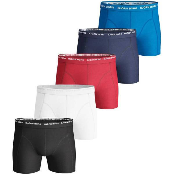 Björn Borg Solid Essential Shorts 5-pack Multi