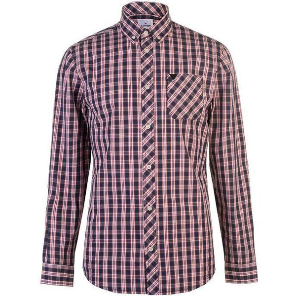 Soviet Checked Shirt - Navy/Red