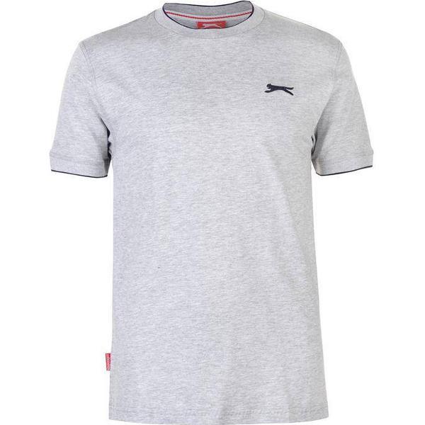 Slazenger Tipped T-shirt - Grey Marl