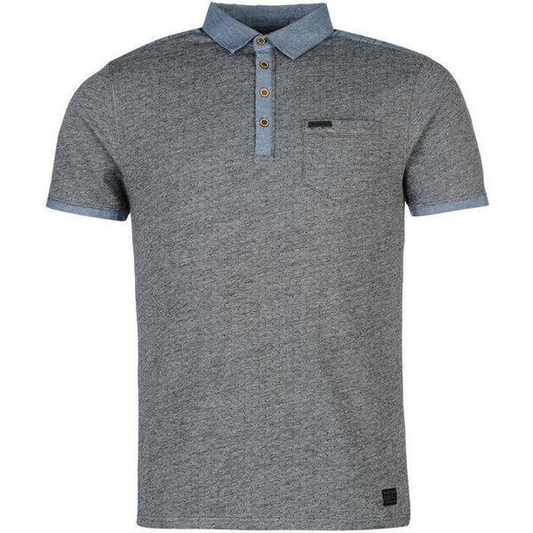 Firetrap Blackseal Jacquard Polo Shirt - Navy