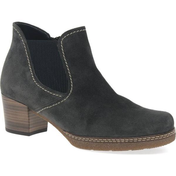 Gabor Lilia Grey Womens Chelsea Boots Colour: Dark Grey Lilia Suede, Size: 3.5 0d3e27