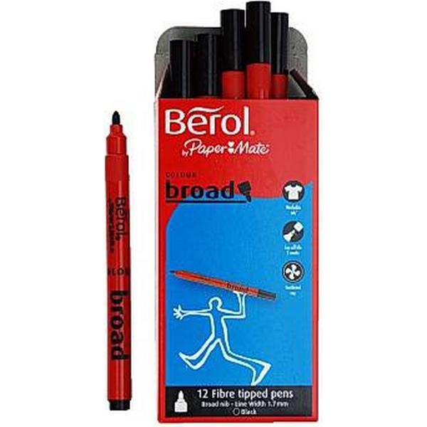 Berol Colour Broad FIbre Tipped Pens 12-pack