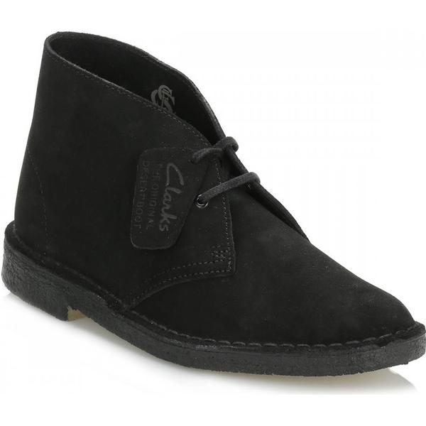 Clarks Ankle Womens Black Desert Suede Ankle Clarks Boots 5b4a1c