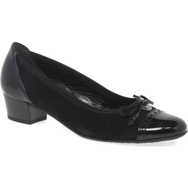 Gabor Colour: Islay Womens Casual Shoes Colour: Gabor Black Suede/Patent, Size: 8 413685