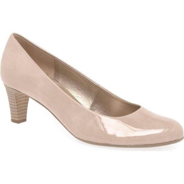 Gabor Vesta Colour: 2 Womens Court Shoes Colour: Vesta Sand Patent Hi Tec, Size: 7 8630e0