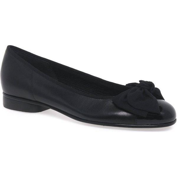 Gabor Amy Bow Trim Ballerina 5.5 Pumps Colour: Black, Size: 5.5 Ballerina 038882