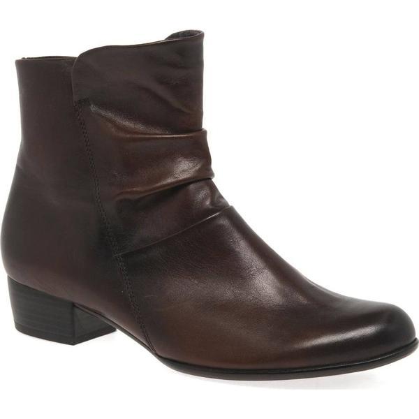 Gabor Jensen Wide Fit Ankle 2.5 Boots Colour: Castagno, Size: 2.5 Ankle 791881