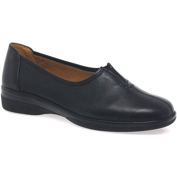 Gabor Alice Womens Black, Leather Wide Fit Shoes Colour: Black, Womens Size: 2.5 124a95
