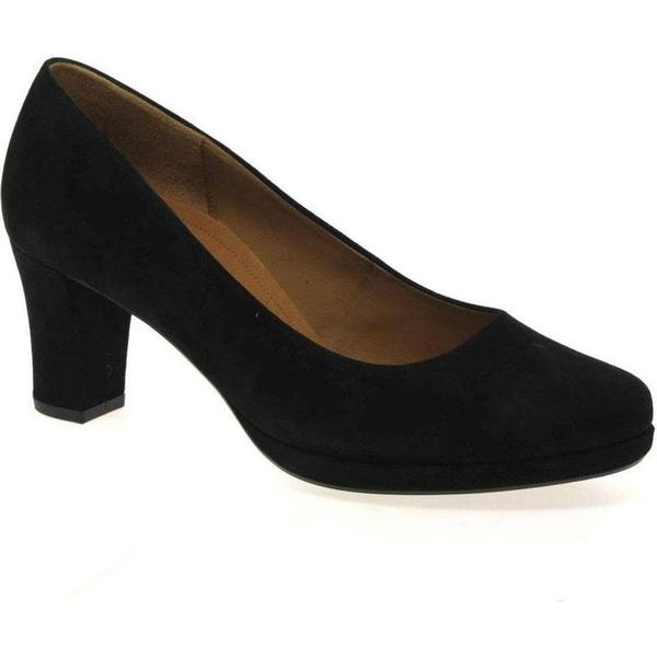Gabor Ella Colour: Womens Suede Court Shoes Colour: Ella Black Suede, Size: 5.5 5c84f6