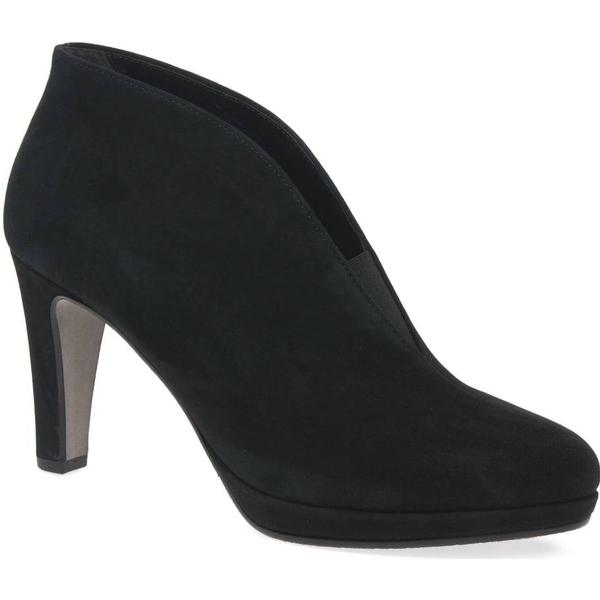 Gabor Amien Womens Modern Slip On Suede, Ankle Boots Colour: Black Suede, On Siz 182720