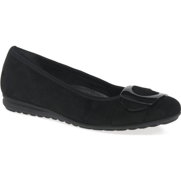 Gabor Cash Black Womens Casual Shoes Colour: Black Cash Suede/Patent, Size: 7 743a49