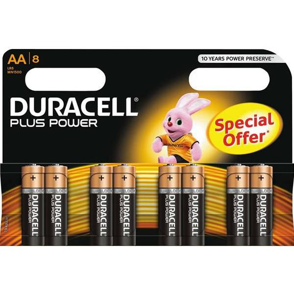 Duracell AA Plus Power Compatible 8-pack