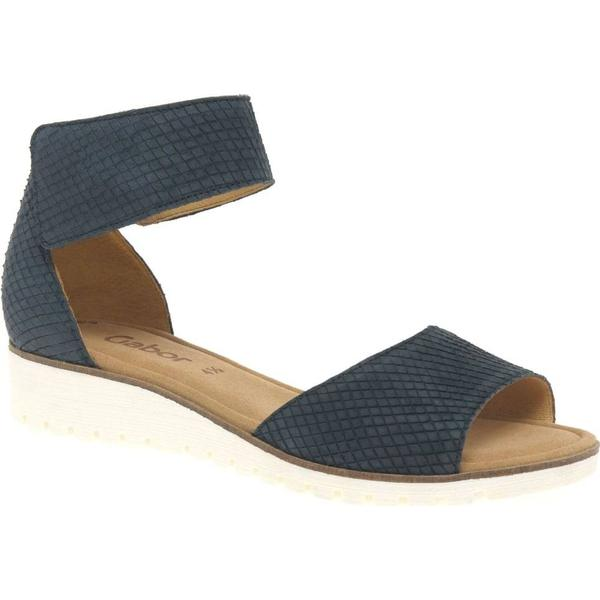 Gabor Nightblue Penny Womens Sandals Colour: Nightblue Gabor Cobra Nubuck, Size: 4 bffadf