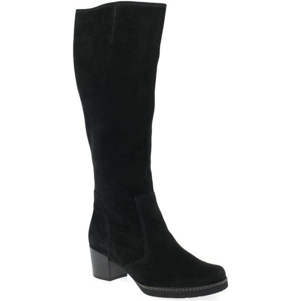 Gabor Paris Black L Womens Long Boots Colour: Black Paris Nubuck, Size: 4.5 562478