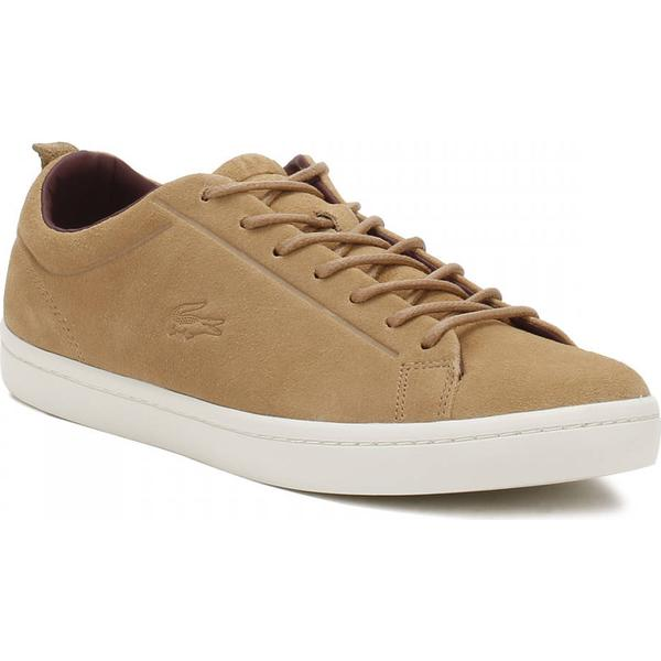 Lacoste Tan Mens Light Tan Lacoste Straightset 317 3 Trainers 1c1421